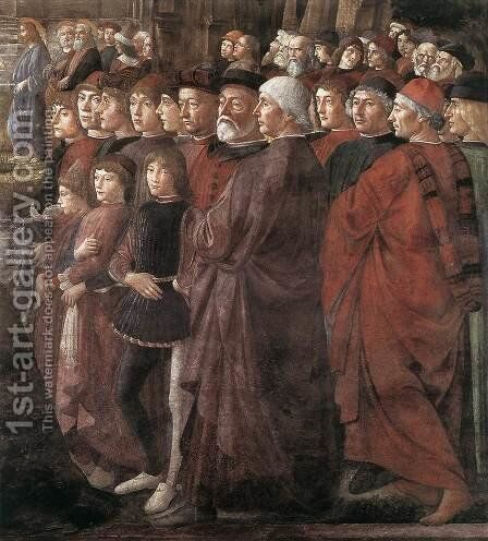 Calling of the Apostles (detail 2) 1481 by Domenico Ghirlandaio - Reproduction Oil Painting