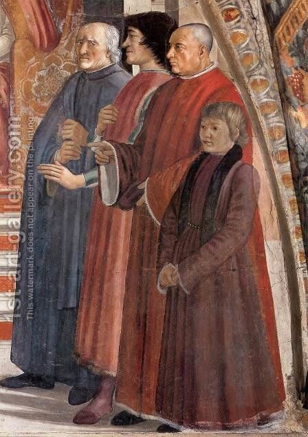 Confirmation of the Rule (detail 3) 1482-85 by Domenico Ghirlandaio - Reproduction Oil Painting