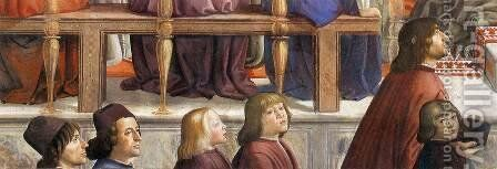 Confirmation of the Rule (detail 5) 1482-85 by Domenico Ghirlandaio - Reproduction Oil Painting