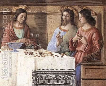 Last Supper (detail 2) c. 1486 by Domenico Ghirlandaio - Reproduction Oil Painting