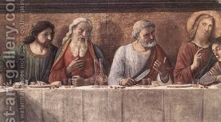 Last Supper (detail 3) 1480 by Domenico Ghirlandaio - Reproduction Oil Painting