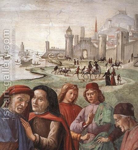 Renunciation of Worldly Goods (detail 1 ) 1482-85 by Domenico Ghirlandaio - Reproduction Oil Painting