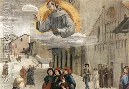 Resurrection of the Boy (detail 2) 1482-85 by Domenico Ghirlandaio - Reproduction Oil Painting