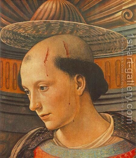 St Stephen (detail) 1490-94 by Domenico Ghirlandaio - Reproduction Oil Painting