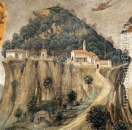 Stigmata of St Francis (detail 1) 1482-85 by Domenico Ghirlandaio - Reproduction Oil Painting
