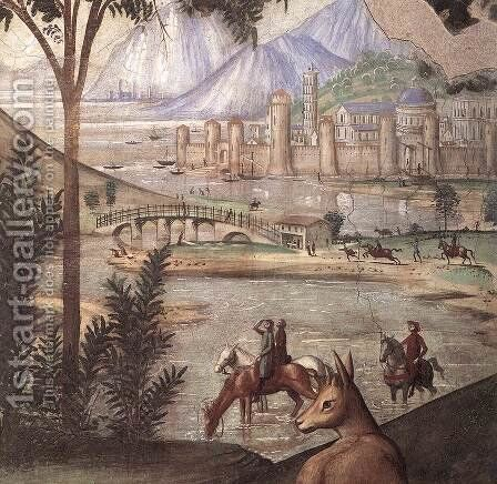 Stigmata of St Francis (detail 2) 1482-85 by Domenico Ghirlandaio - Reproduction Oil Painting