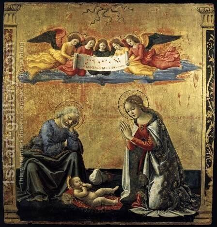 The Nativity c. 1492 by Domenico Ghirlandaio - Reproduction Oil Painting