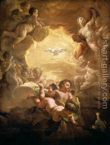 The Holy Spirit 1750s by Corrado Giaquinto - Reproduction Oil Painting