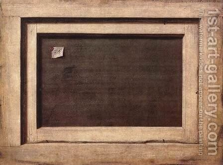 Reverse side of a painting 1670 by Cornelis Gijsbrechts - Reproduction Oil Painting