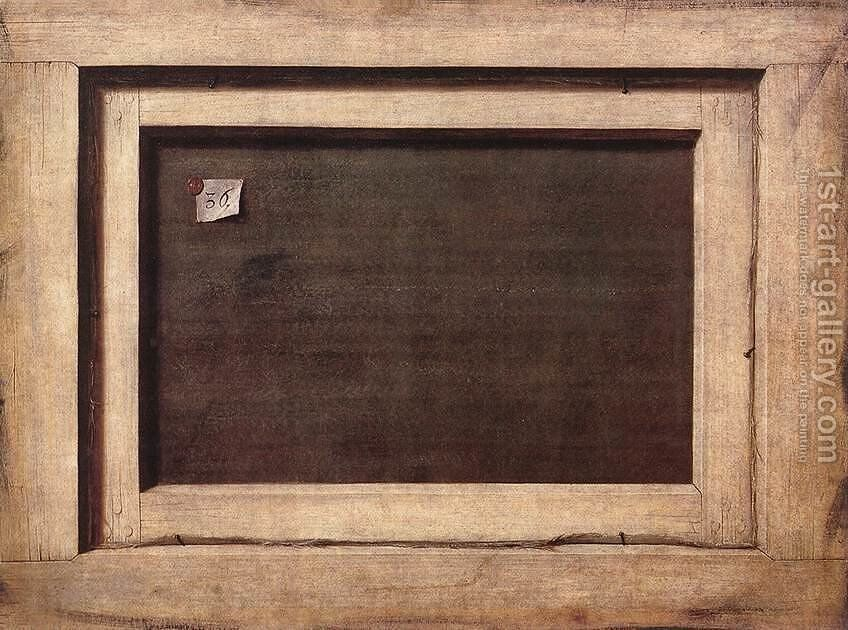 Wandplank 70 Cm Breed.Reverse Side Of A Painting 1670