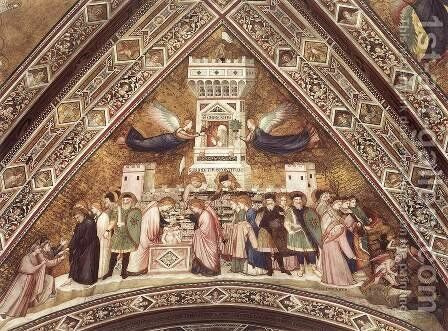 Franciscan Allegories-Allegory of Chastity c. 1330 by Giotto Di Bondone - Reproduction Oil Painting