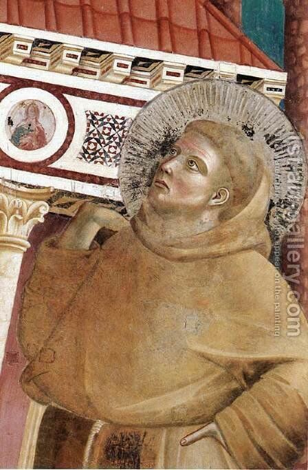 Legend of St Francis- 6. Dream of Innocent III (detail 1)  1297-99 by Giotto Di Bondone - Reproduction Oil Painting