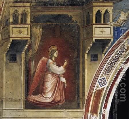 No. 14 Annunciation- The Angel Gabriel Sent by God 1306 by Giotto Di Bondone - Reproduction Oil Painting