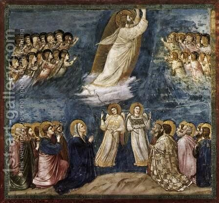 No. 38 Scenes from the Life of Christ- 22. Ascension 1304-06 by Giotto Di Bondone - Reproduction Oil Painting