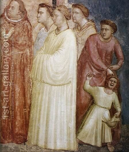 Scenes from the Life of Saint Francis- 2. Renunciation of Wordly Goods (detail) 1325 by Giotto Di Bondone - Reproduction Oil Painting