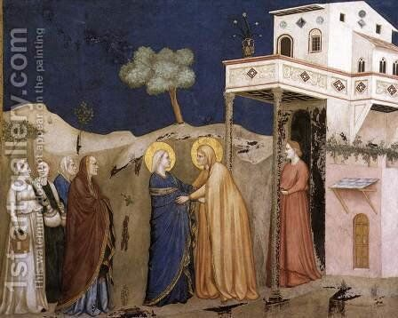 The Visitation 1310s by Giotto Di Bondone - Reproduction Oil Painting