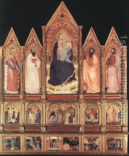 Polyptych with Madonna and Saints 1355 by Giovanni Da Milano - Reproduction Oil Painting