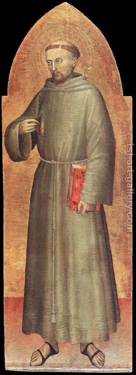 St Francis of Assisi c. 1360 by Giovanni Da Milano - Reproduction Oil Painting