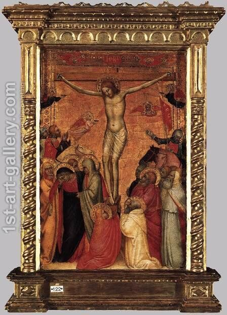 The Crucifixion 1350s by Giovanni Da Milano - Reproduction Oil Painting
