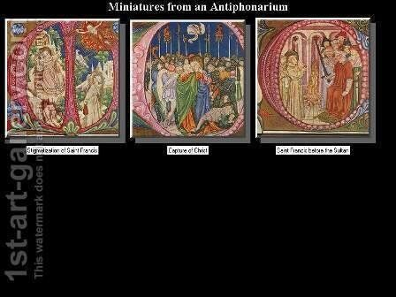Miniatures c. 1450 by Giovanni di Paolo - Reproduction Oil Painting