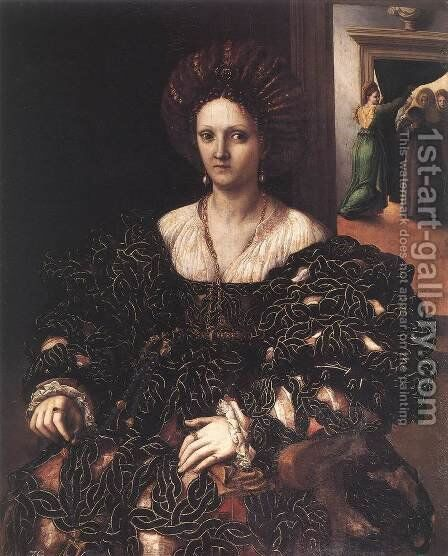Portrait of a Woman c. 1531 by Giulio Romano (Orbetto) - Reproduction Oil Painting