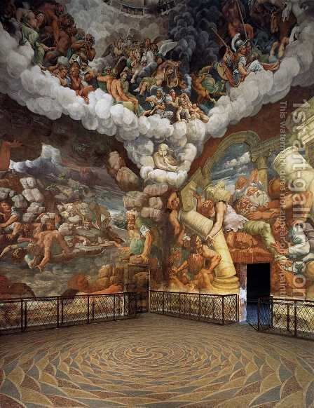 View of the Sala dei Giganti 1526-34 by Giulio Romano (Orbetto) - Reproduction Oil Painting