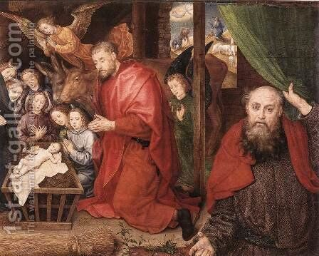 Adoration of the Shepherds (detail 3) c. 1480 by Hugo Van Der Goes - Reproduction Oil Painting