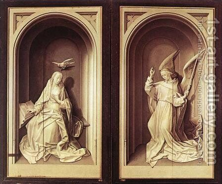 Portinari Triptych (closed) 1476-79 by Hugo Van Der Goes - Reproduction Oil Painting