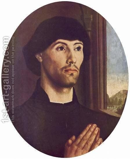 Portrait of a Man c. 1475 by Hugo Van Der Goes - Reproduction Oil Painting