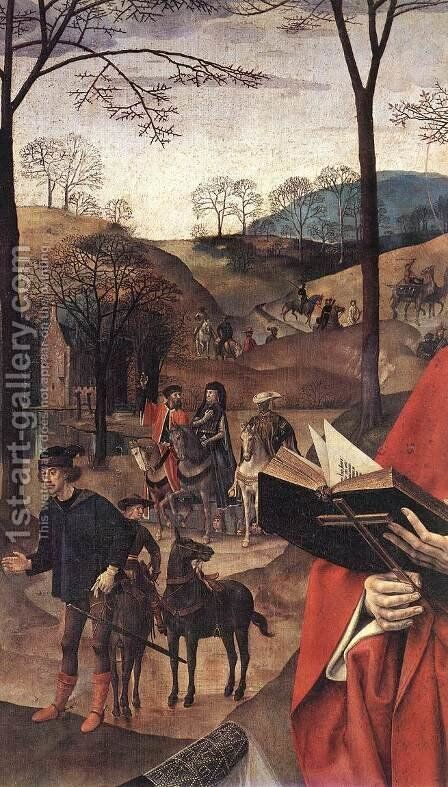 Sts Margaret and Mary Magdalene with Maria Portinari (detail) 1476-79 by Hugo Van Der Goes - Reproduction Oil Painting