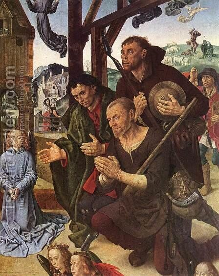 The Adoration of the Shepherds (detail 8) 1476-79 by Hugo Van Der Goes - Reproduction Oil Painting