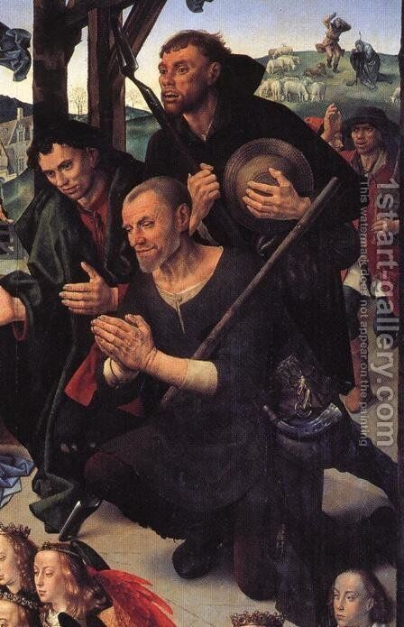 The Adoration of the Shepherds (detail 9) 1476-79 by Hugo Van Der Goes - Reproduction Oil Painting