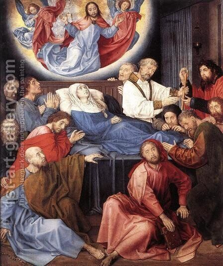 The Death of the Virgin c. 1480 by Hugo Van Der Goes - Reproduction Oil Painting