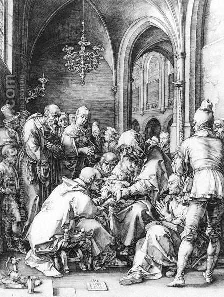 Circumcision in the Church of St Bavo at Haarlem 1594 by Hendrick Goltzius - Reproduction Oil Painting