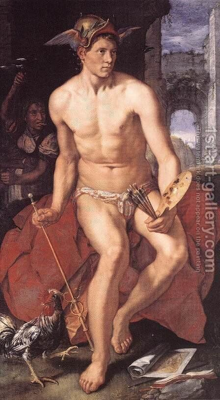 Mercury 1611 by Hendrick Goltzius - Reproduction Oil Painting
