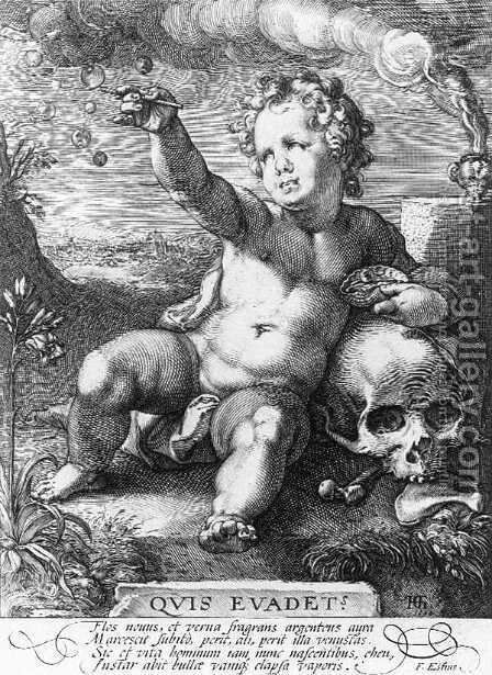 Quis evadet 1594 by Hendrick Goltzius - Reproduction Oil Painting