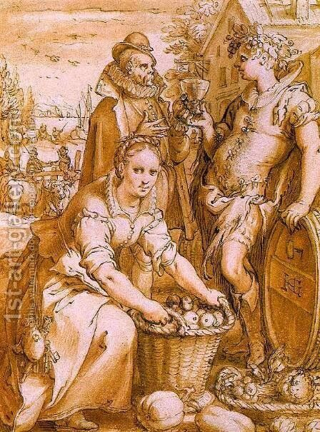 Autumn 1597 by Hendrick Goltzius - Reproduction Oil Painting