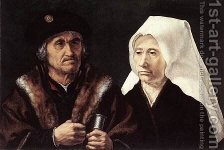 An Elderly Couple 1510-28 by Jan (Mabuse) Gossaert - Reproduction Oil Painting