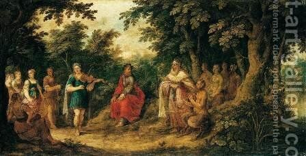 The Judgement of Midas by Abraham Govaerts - Reproduction Oil Painting
