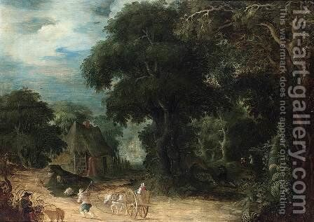 Wooded Landscape by Abraham Govaerts - Reproduction Oil Painting