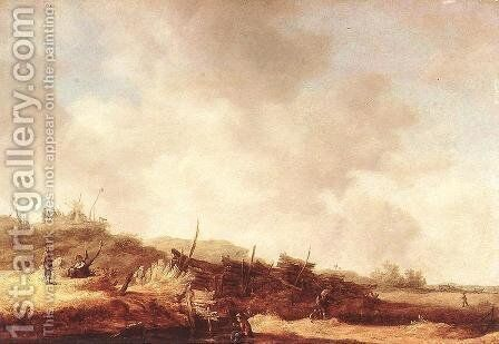 Landscape with Dunes 1630-35 by Jan van Goyen - Reproduction Oil Painting