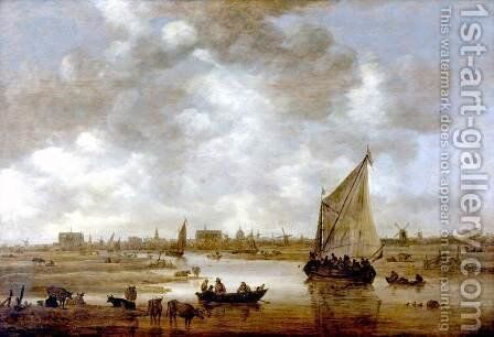 View of Leiden from the Northeast 1650 by Jan van Goyen - Reproduction Oil Painting