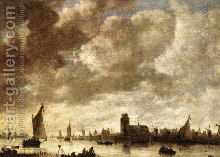 View of the Merwede before Dordrecht by Jan van Goyen - Reproduction Oil Painting