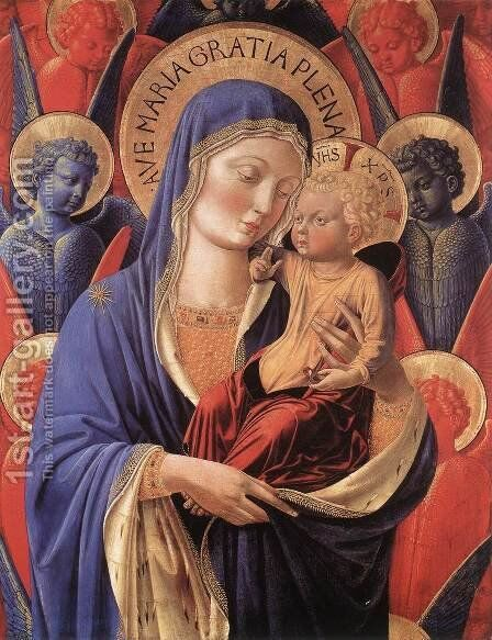 Madonna and Child c. 1460 by Benozzo di Lese di Sandro Gozzoli - Reproduction Oil Painting
