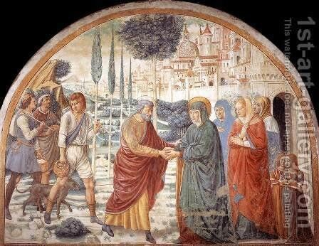 Meeting at the Golden Gate 1491 by Benozzo di Lese di Sandro Gozzoli - Reproduction Oil Painting