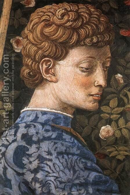 Procession of the Middle King (detail 3) 1459-60 by Benozzo di Lese di Sandro Gozzoli - Reproduction Oil Painting