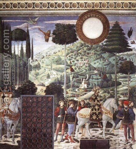 Procession of the Middle King (south wall) 1459-60 by Benozzo di Lese di Sandro Gozzoli - Reproduction Oil Painting