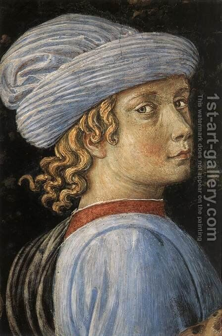 Procession of the Oldest King (detail 6) 1459-60 by Benozzo di Lese di Sandro Gozzoli - Reproduction Oil Painting
