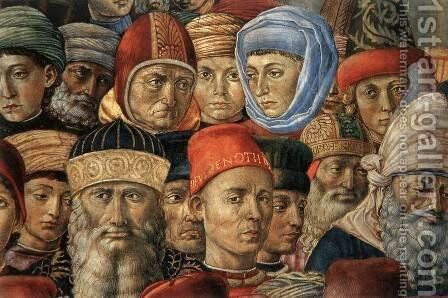 Procession of the Youngest King (detail 4) 1459-60 by Benozzo di Lese di Sandro Gozzoli - Reproduction Oil Painting