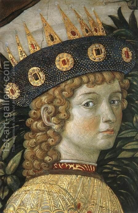 Procession of the Youngest King (detail 5) 1459-60 by Benozzo di Lese di Sandro Gozzoli - Reproduction Oil Painting